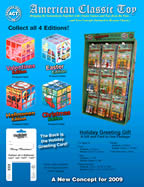 Catalog sheet for proposed Holiday Cube concept toy